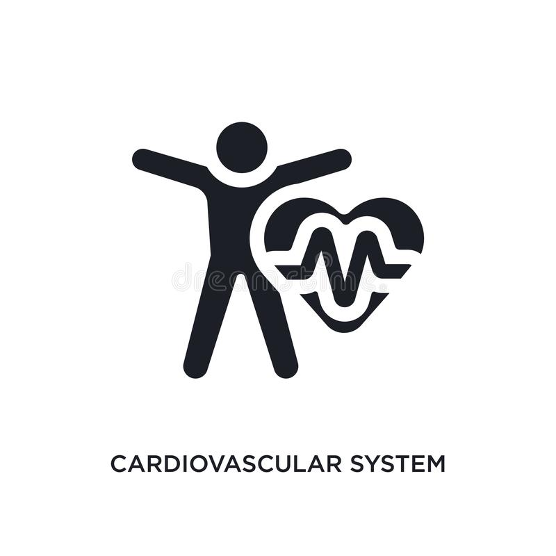 black cardiovascular system isolated vector icon. simple element illustration from sauna concept vector icons. cardiovascular vector illustration