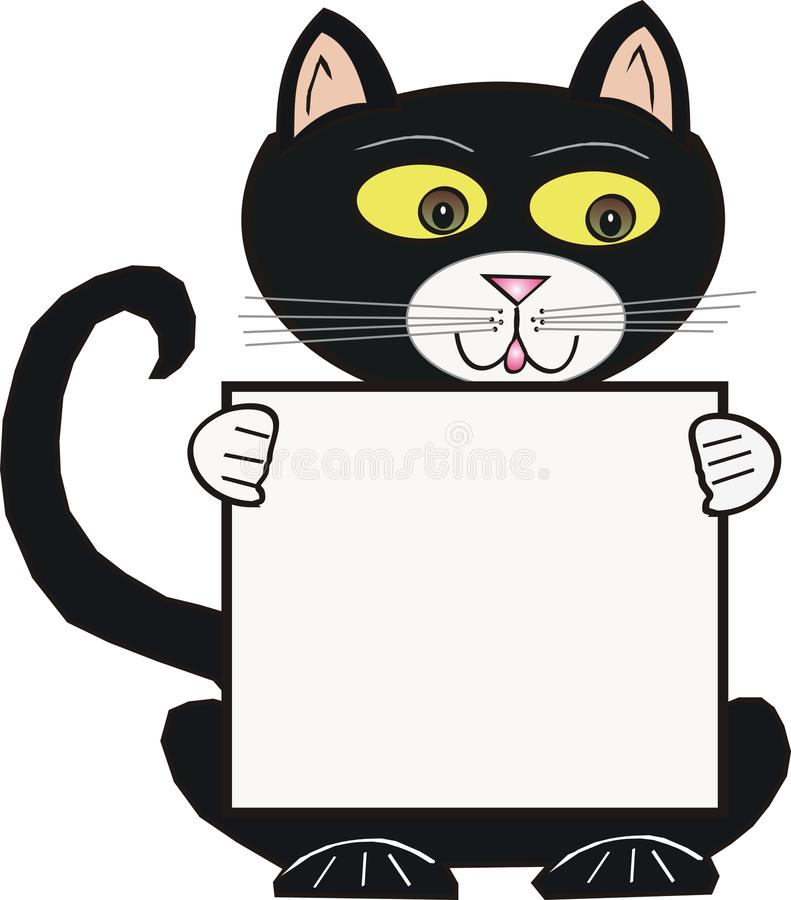 Black Cartoon Cat Stock Images
