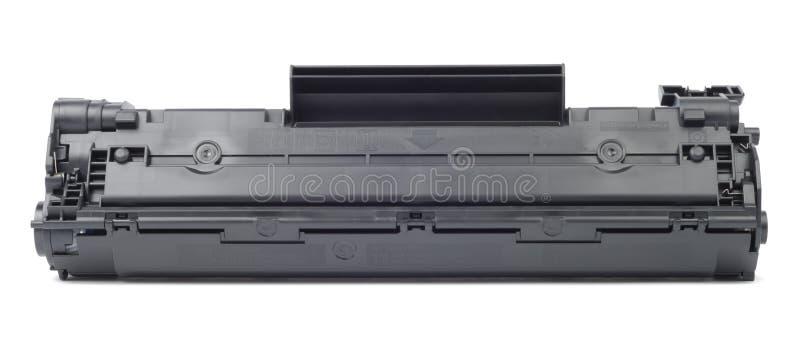 Black Cartridge. New plastic black cartridge isolated over white royalty free stock photos