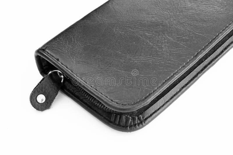 Black case leather. Black case leather,The pen pouch royalty free stock images
