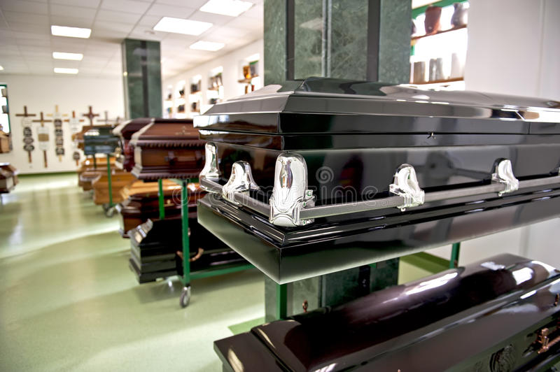 Black casket stock photos