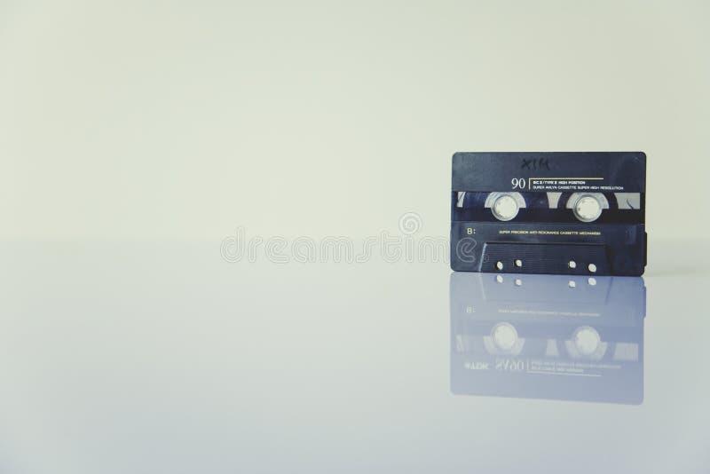 Black Cassette Tape Standing On White Surface Free Public Domain Cc0 Image