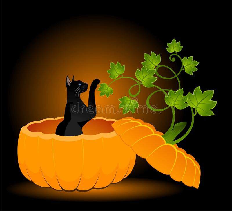 Download Black cat stock vector. Illustration of creepy, black - 11603436