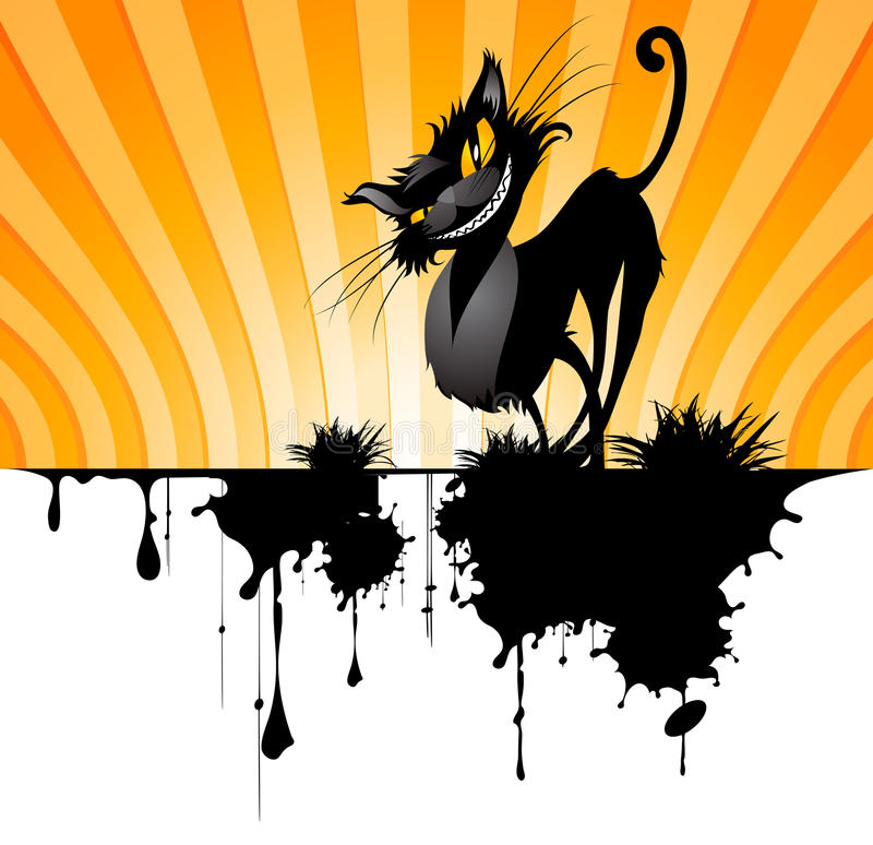Download Black cat stock vector. Illustration of yellow, dirty - 13102161