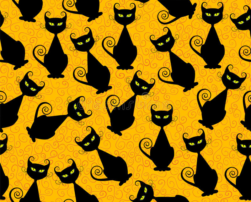 Black cat royalty free illustration