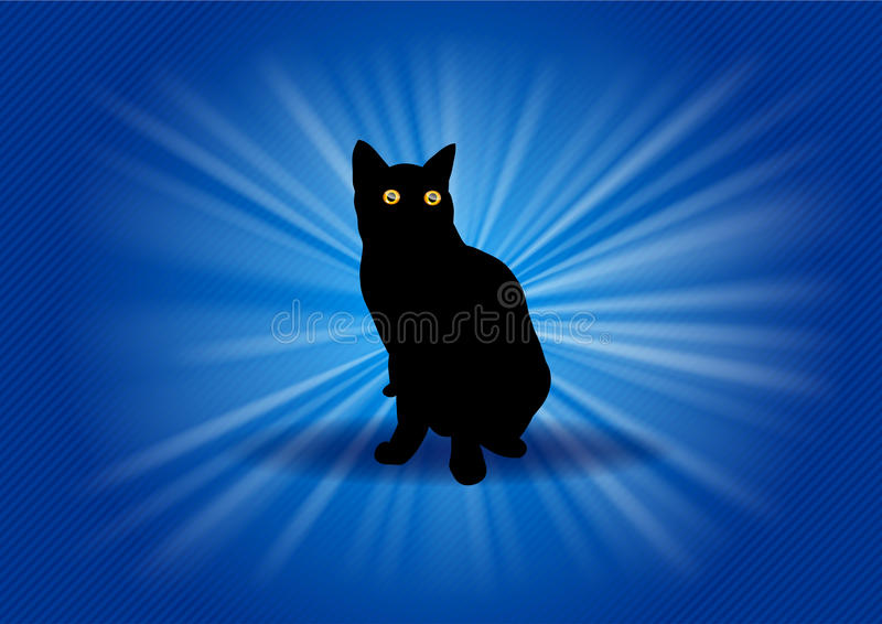 Download Black cat stock vector. Image of mammal, eps10, simple - 23711999
