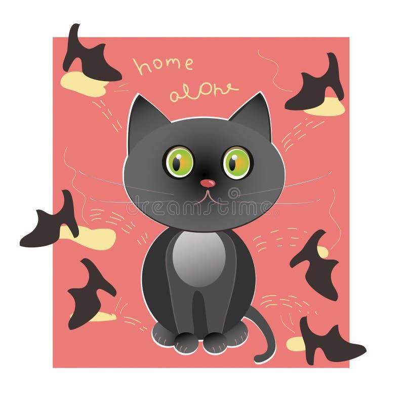 Download Black cat stock illustration. Image of pool, black, simplicity - 24316923