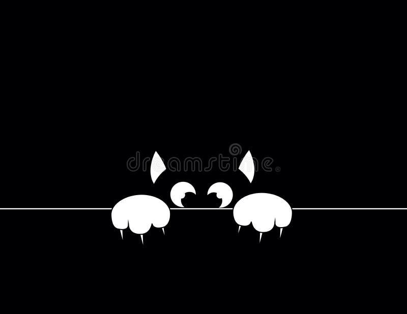 Black cat royalty free illustration