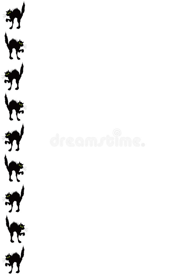 Black cat border stock illustration