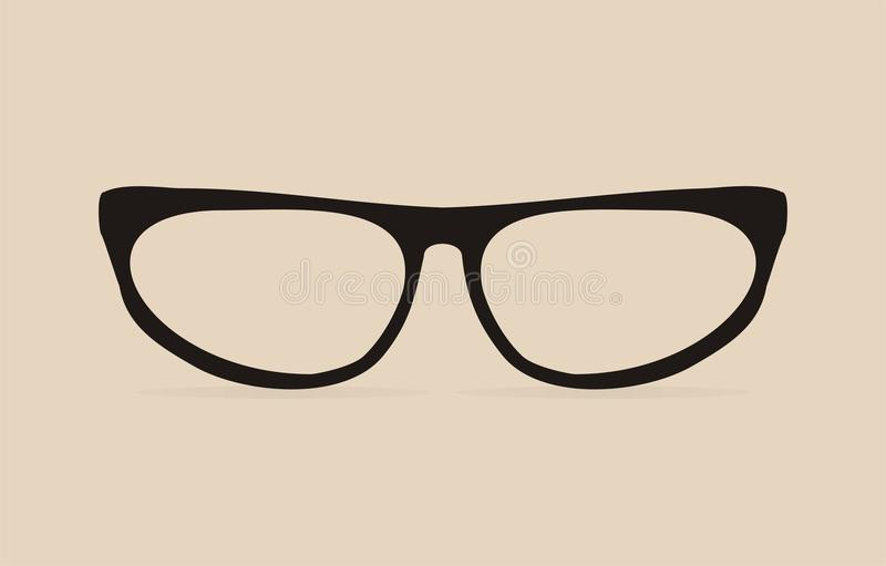 Black cat eyes vector glasses royalty free illustration