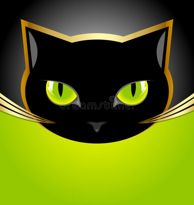Download Black cat head stock vector. Illustration of character - 26510841