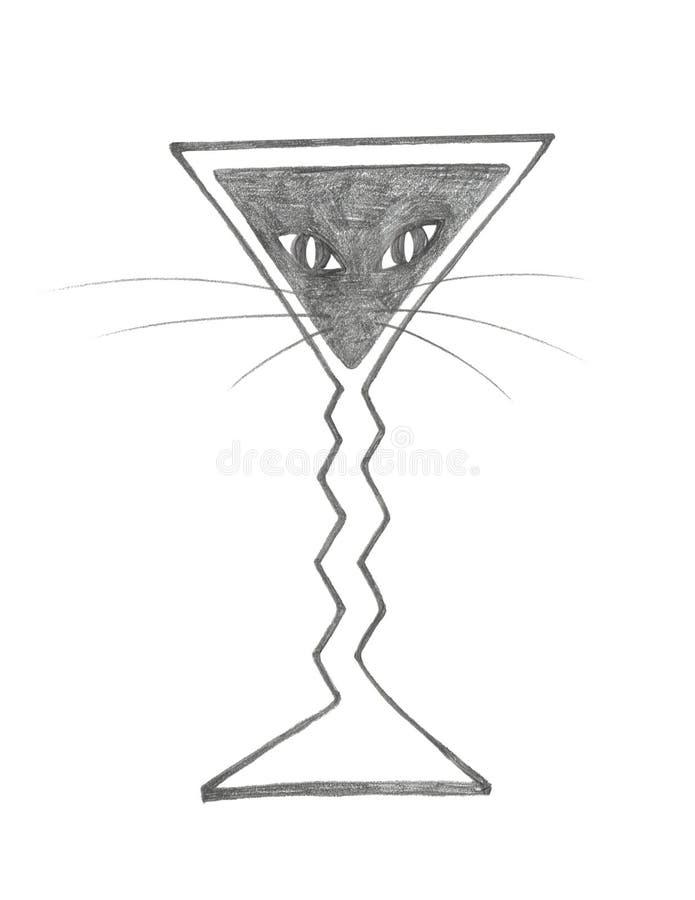 Download Black Cat Martini stock illustration. Illustration of glass - 10797484