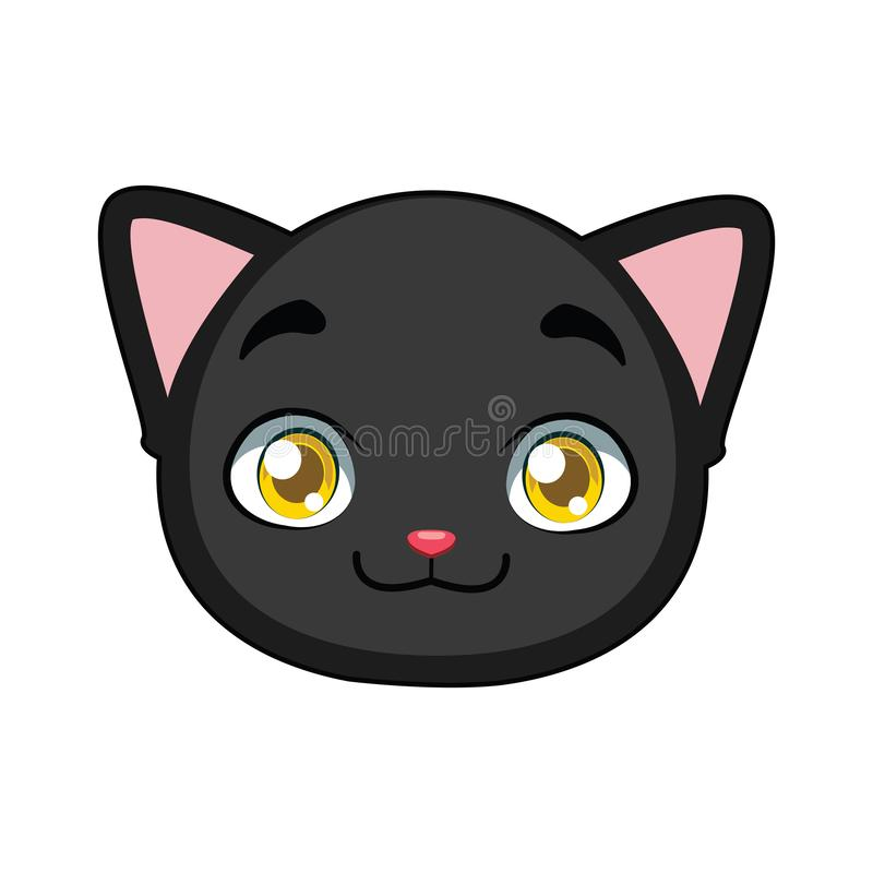Black cat portrait for multiple uses royalty free illustration