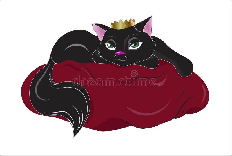 Black cat queen royalty free illustration