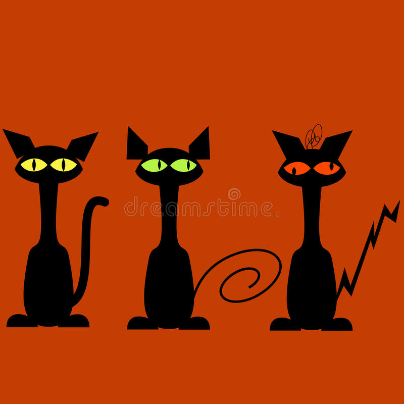 Download Black cats stock vector. Image of illustration, horror - 10831007