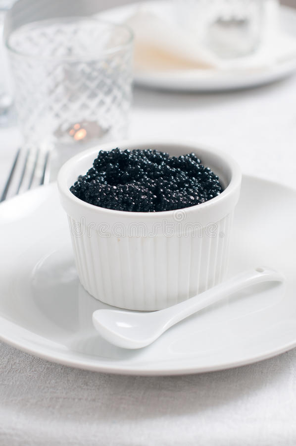 Download Black caviar in a bowl stock image. Image of healthy - 22680357