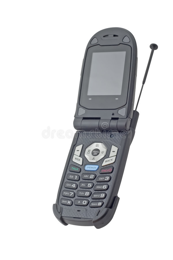Black cellular phone royalty free stock photo