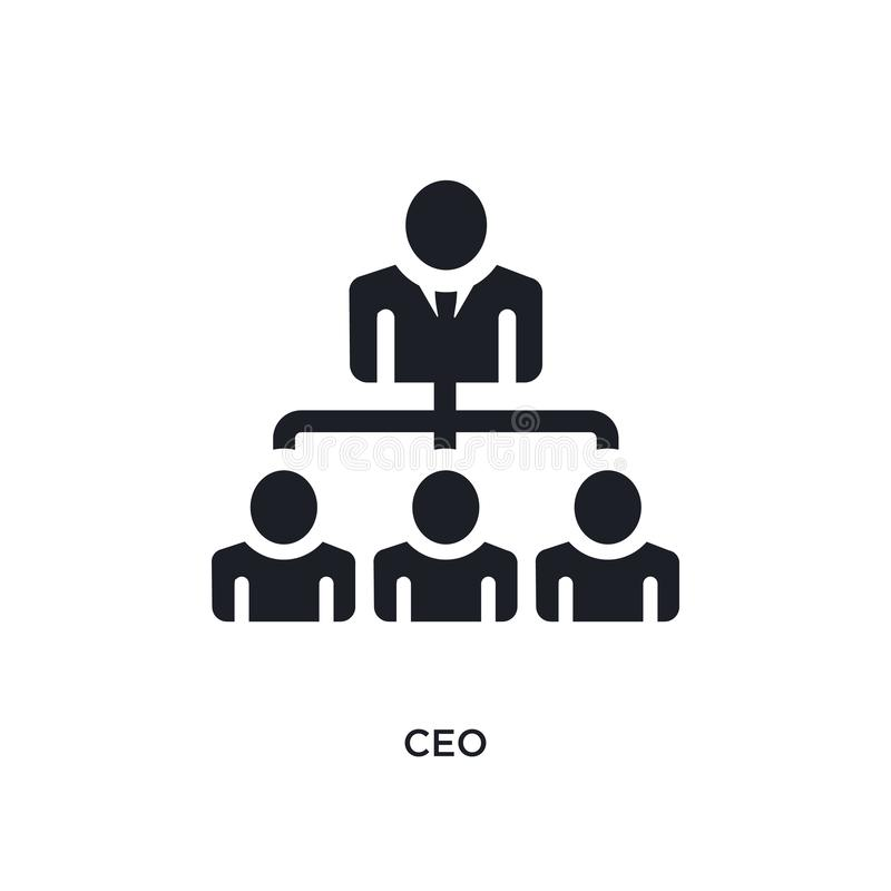 black ceo isolated vector icon. simple element illustration from startup stategy and concept vector icons. ceo editable logo royalty free illustration