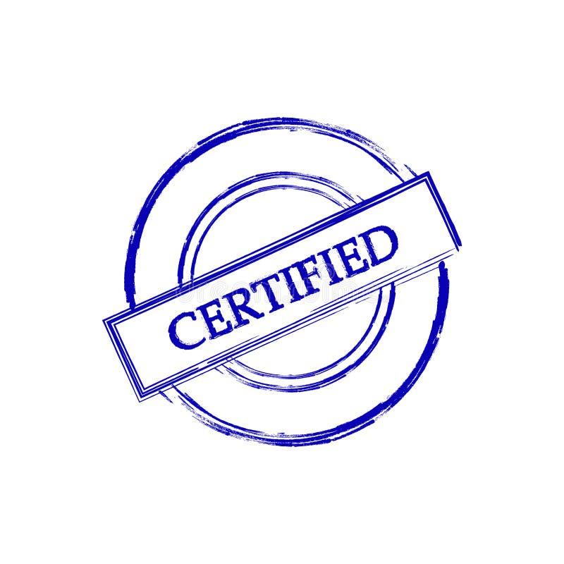 Black Certified grunge icon sign.  royalty free illustration