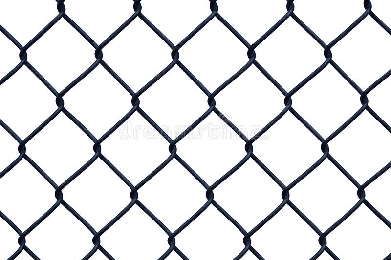 Black chainlink chain link fence FOREGROUND on a TRANSPARENT background for placing fence on a TOP layer to indicate separation. Or exclusion stock photos