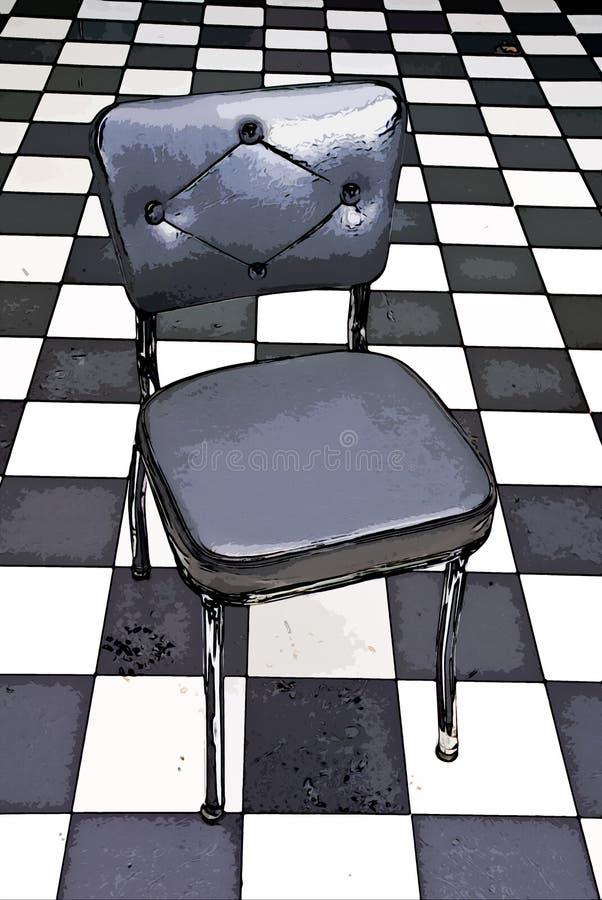 black chair illustration white απεικόνιση αποθεμάτων
