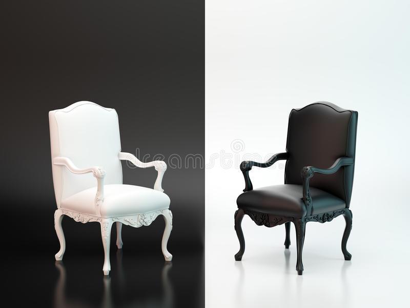 black chairs white arkivbild