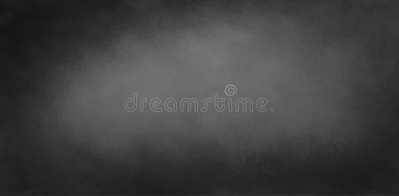 Black chalkboard background texture illustration with dark border and gray center with soft lighting, elegant vintage background. Design stock images