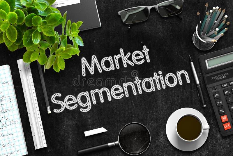 Black Chalkboard with Market Segmentation. 3D. royalty free illustration