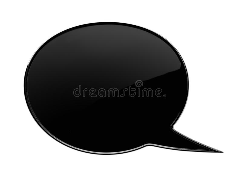 Black chat bubble. 3d Render Illustration royalty free stock photo
