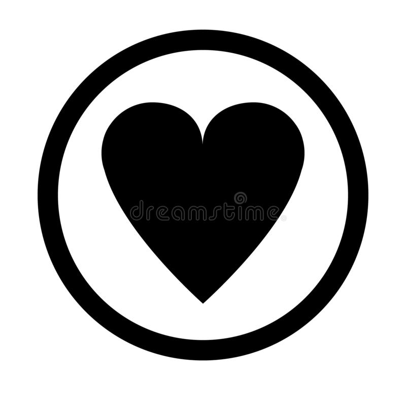 Black cheart icon, love icon vector illustration. Cheart logo vector, love logo vector stock illustration