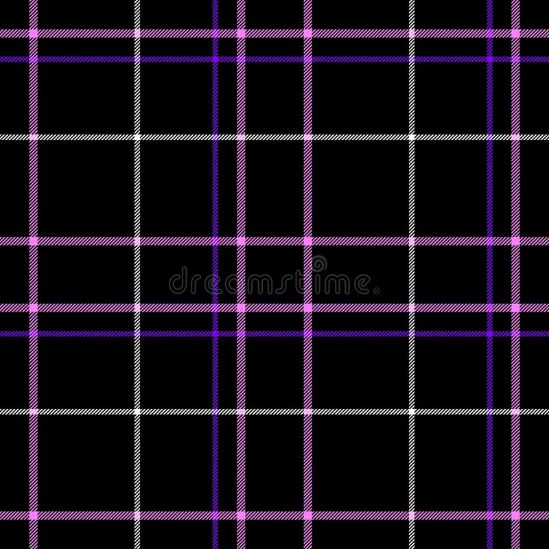 Black check diamond tartan plaid fabric seamless pattern texture background royalty free illustration