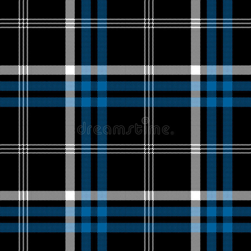 Black check pixel square fabric texture seamless plaid royalty free illustration