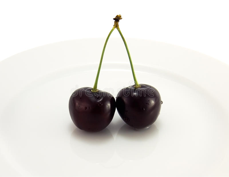 Black cherry on a plate