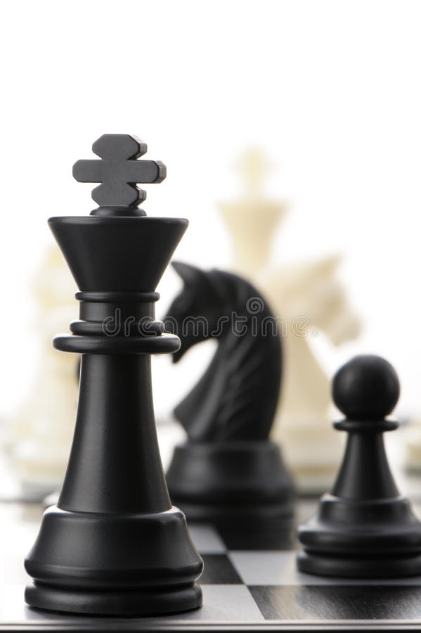 Download The black chess king stock image. Image of intelligence - 23185399