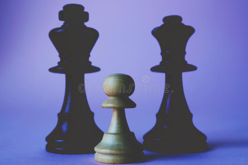 Black, Chess, Pieces royalty free stock photo