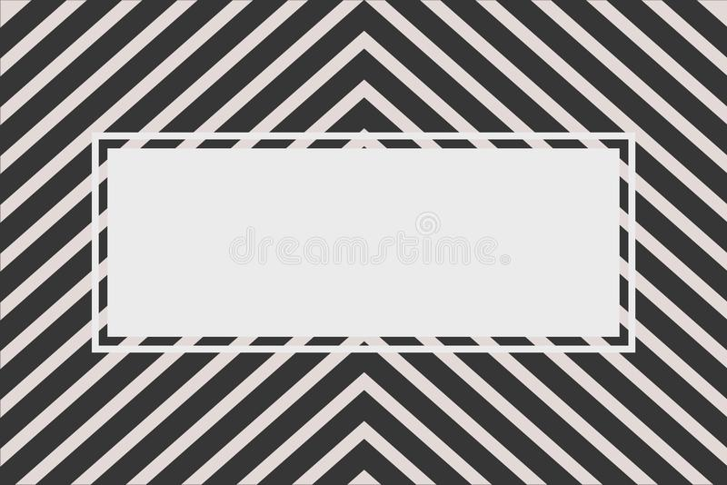 Black chevron stripe pattern with text frame. For background stock images