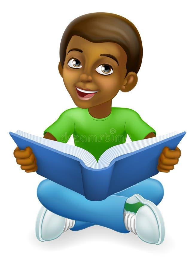 Free Black Child Boy Cartoon Kid Reading Book Stock Image - 190641781
