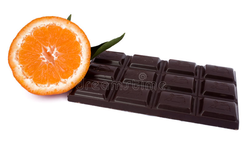 Black Chocolate Tablet Stock Images