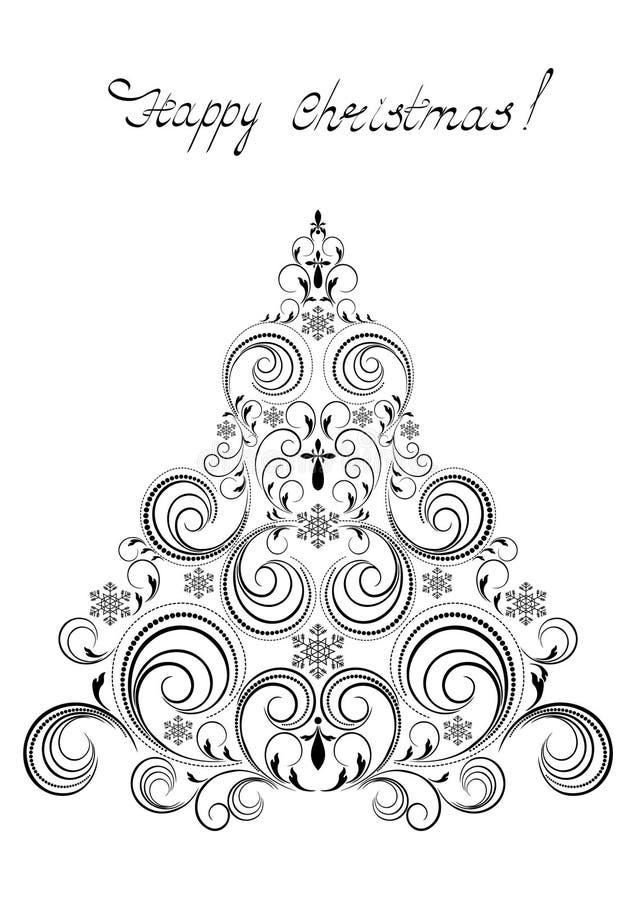 Black Christmas Tree With Snowflakes Stock Photo Image 56351743