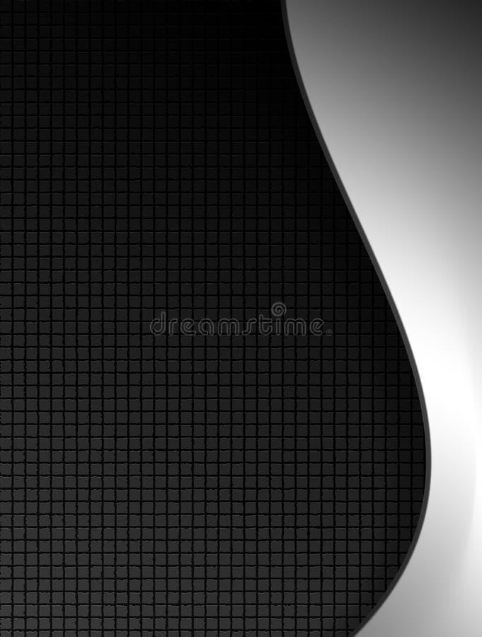 Black and chrome stock illustration