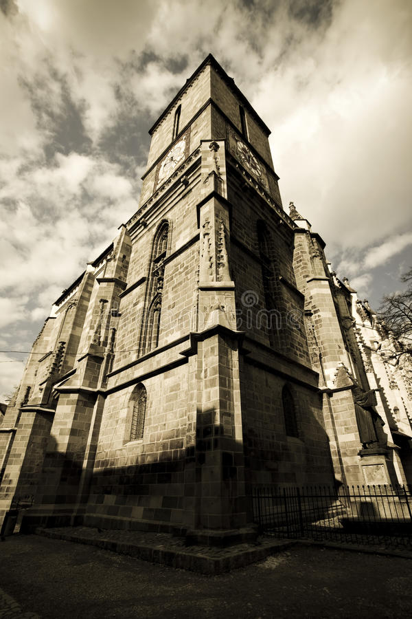 Download Black church from Brasov stock image. Image of building - 13925829