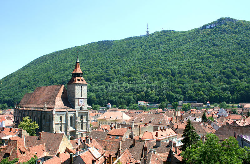 The Black Church from Brasov - Romania stock photos