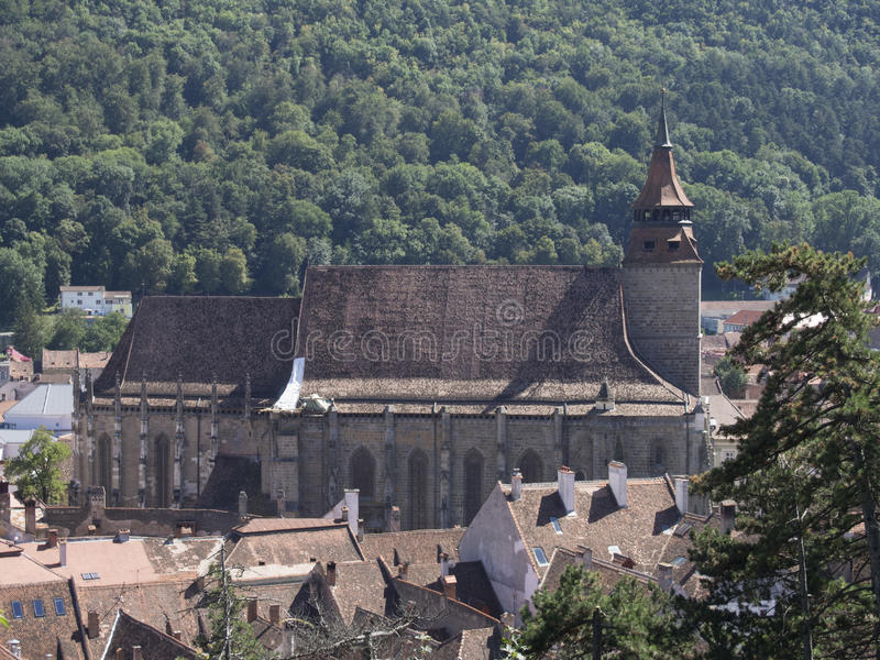 Black church, Brasov, Romania stock photography