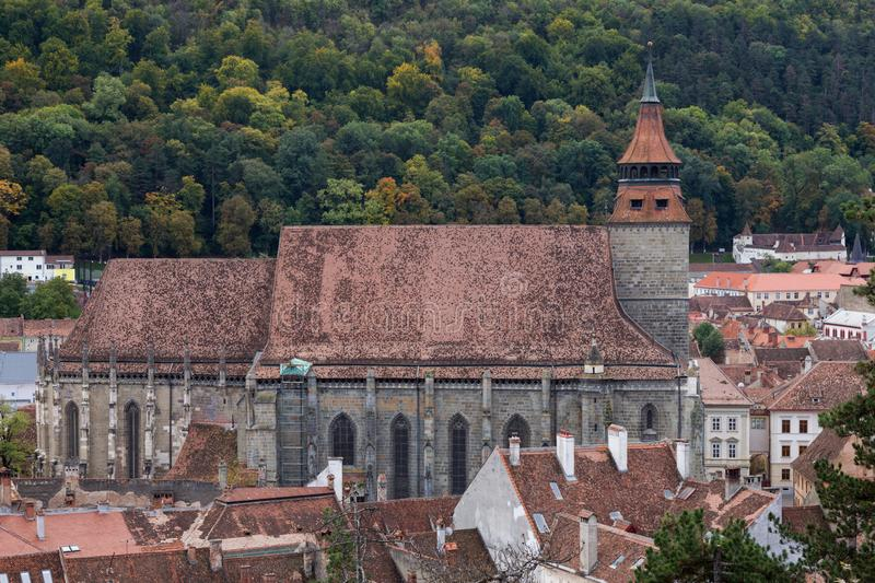 Black Church in Brasov Romania. The Black Church is a cathedral in BraÅŸov, a city in south-eastern Transylvania, Romania. The Black Church, the largest gothic stock photography