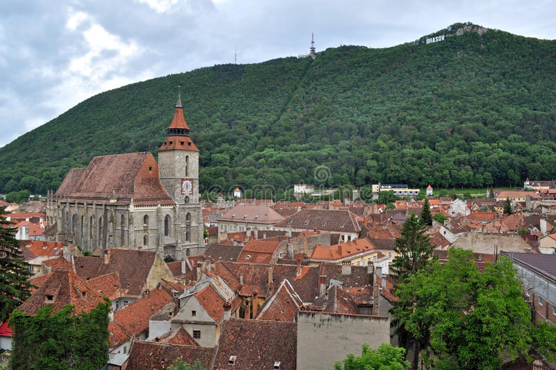 The Black church, Brasov, Romania stock photo