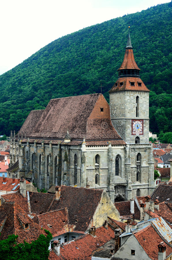 Black Church in Brasov, Transylvania, Romania stock image