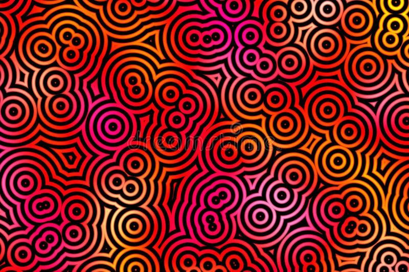 Black circles pattern royalty free stock images