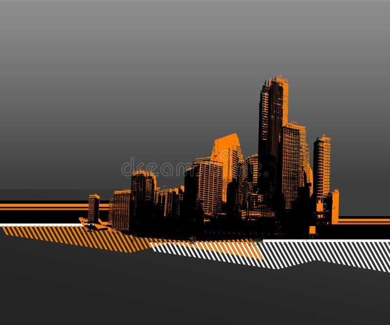 Download Black city. vector art stock vector. Image of grey, background - 2758836