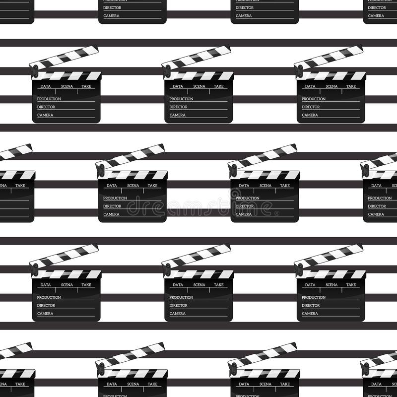 Black clap open black object element for movie making vector illustration Flat. Pattern Symbol Icon on films for your stock illustration