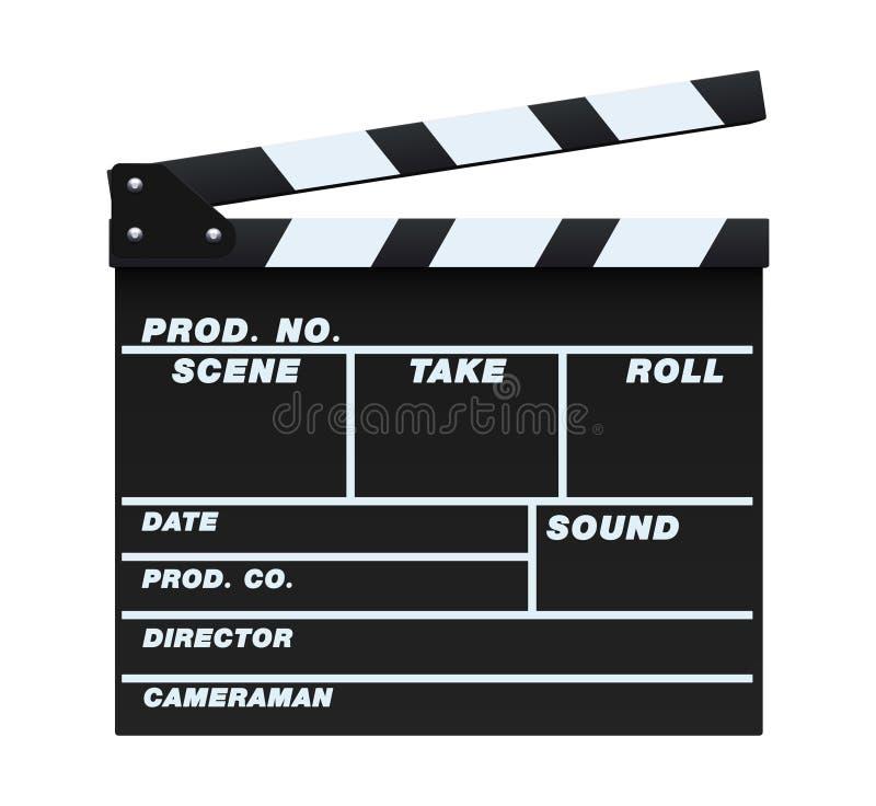 Black Clapperboard. Vector illustration of a blank and isolated movie clapperboard vector illustration